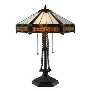 Dimond Lighting Filigree Two Light Table Lamp in Tiffany Bronze