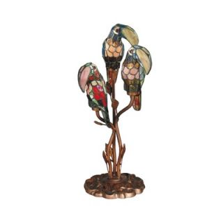 Dale Tiffany Port Douglas Parrot Accent Lamp in Antique Bronze