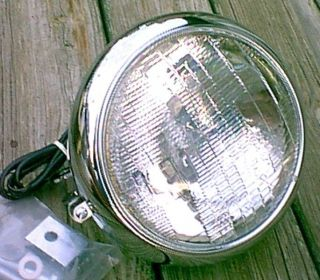 Chrome 7 inch FatBoy Heritage Headlight Assembly Harley Davidson