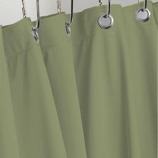 Sage Green Heavy Vinyl Shower Curtain 4 Gauge w Metal Grommets New