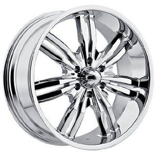 Viscera 727 22x9.5 Chrome Wheel / Rim 6x135 with a 35mm Offset and a