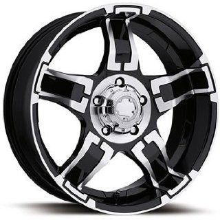 Ultra Drifter 16x8 Black Wheel / Rim 5x4.5 with a 10mm Offset and a 81