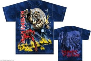 Iron Maiden   Number of the Beast Allover Print T Shirt