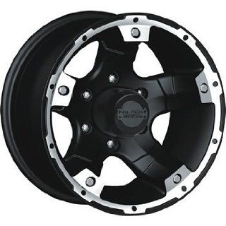 Black Rock Viper 15x8 Black Wheel / Rim 5x4.5 with a  19mm Offset and
