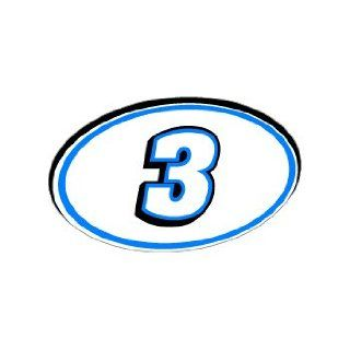 Number Jersey Nascar Racing   Blue   Window Bumper Sticker