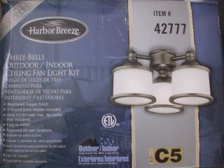 Harbor Breeze Westinghouse Indoor Outdoor Ceiling Fan Light Bells Kit