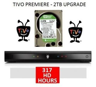 TiVo Premiere TCD746320 2TB WD Hard Drive Upgrade Kit Plug Play