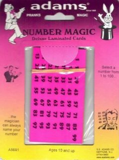 SS Adams Number Magic Toys & Games