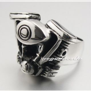 Mens Stainless Steel Harley Davidson Ring Heavy Biker V Twin Quality