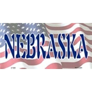 American Flag (Nebraska) License Plate Plates Tags Tag