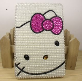 Pearl Crystal Hello Kitty Case Cover for  Kindle Fire