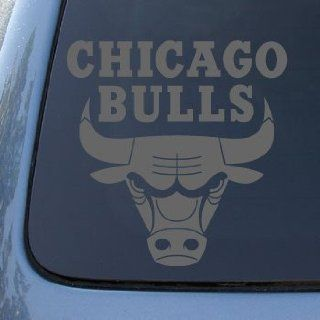 CHICAGO BULLS   Vinyl Decal Sticker #A1339  Vinyl Color Silver