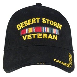 Black Deluxe Low Profile Desert Storm Veteran Cap