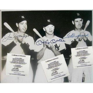 Mickey Mantle Ted Williams Joe Dimaggio Signed Autograph