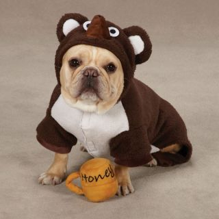 Zack Zoey Lil Honey Bear Halloween Dog Costume Brown w Free Honey Pot