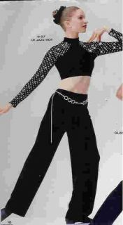 LAJAZZHOT27 Jazz Hiphop Tap Twirl Pant Set Pageant Casual Wear Dance