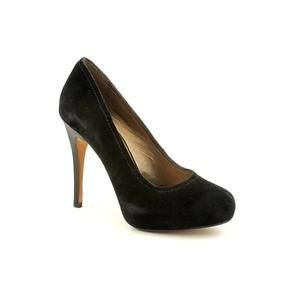 HK by Heidi Klum Ilana Womens Size 5 5 Black Suede Platforms Shoes