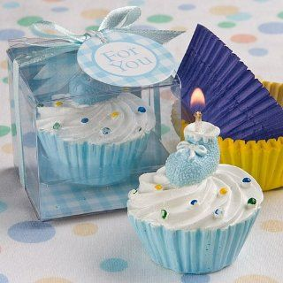 Blue Cupcake Design Candle Favors 8171