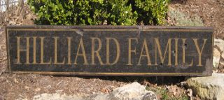 Hilliard Family Name Sign Personalized Lastname Painted Wooden Sign
