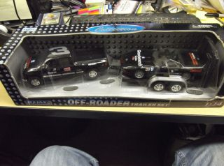 DALE EARNHARDT SR 1 24 DIE CAST OFF ROADER TRAILER SET WELLY