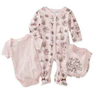 Vitamins Baby Girl Newborn I Love Paris Toile Three Piece