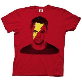 Lightning Bolt Sheldon Big Bang Theory T shirt, Red