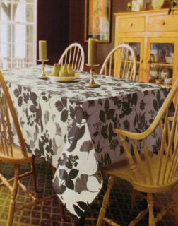 Brown Leaf Vinyl Tablecloth Fall Autumn Leaves Flannel Back Free