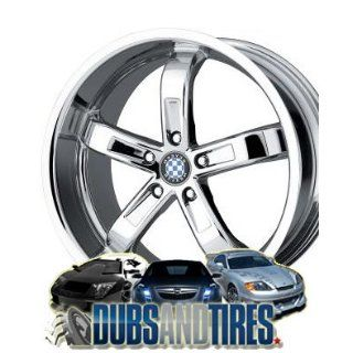 18 Inch 18x8.5 Beyern wheels TYPE FIVE Chrome wheels rims