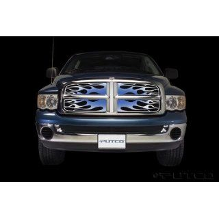 2002 2005 Dodge Ram 1500 Flaming Inferno Stainless Steel Grille   Blue