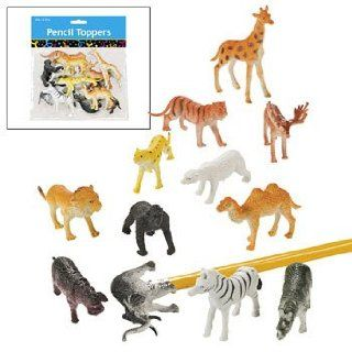 12 Wildlife Animal Pencil Toppers   Basic School Supplies