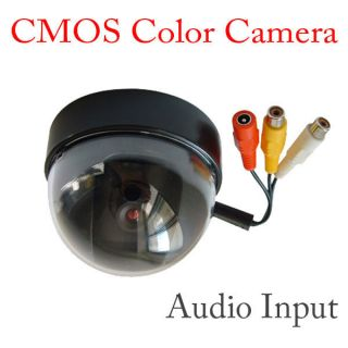 Color CMOS Security Dome Home Camera Wired System Audio Video