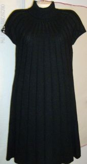 Jessica Howard Turtleneck Short Sleeve Sweater Dress M