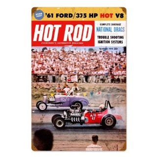 Dec 1960 Hot Rod Magazine National Drags Vintage Metal
