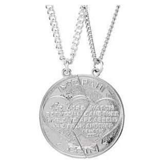 Mizpah Coin Pendant 14K Yellow Gold 26.00X14.00 Left Jewelry