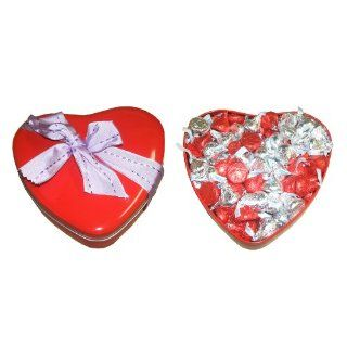 Valentines Day Gift Heart Hershey Red and Silver Kisses 1 Lb Gift