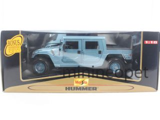 Maisto Hummer H1 4 Doors Hard Top 1 18 Diecast Blue