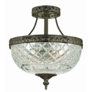 Crystorama 118 10 EB Richmond Collection 3 Light Semi Flush Ceiling