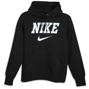 Nike Classic Fleece Emblem Swoosh Hoodie   Mens   Casual   Clothing