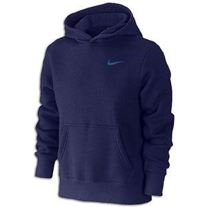 Nike Classic Fleece Pullover Hoodie   Boys Grade School   Night Blue