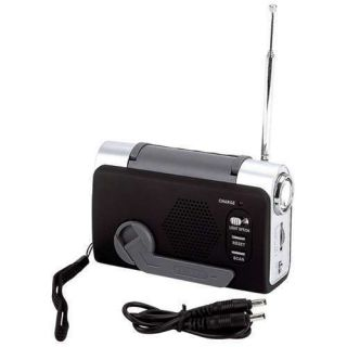 Emergency Supplies /Earthquake Hurricane Wind Up FM/Weather Radio/LED