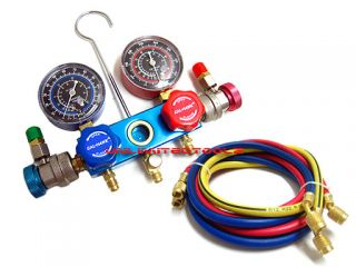 HVAC A C Refrigeration Kit AC Manifold Gauge Set Alum