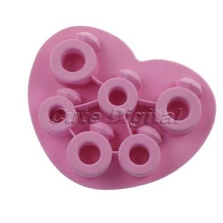 Love Ring Silicone Shaped Cube Ice Trays Ice Candy Mold Maker Party