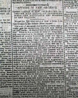 Richmond VA Civil War Newspaper USS Indianola Ironclad Captured
