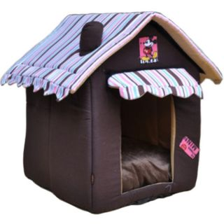 Pet Dog Cat Indoor House Warm Home Portable Folded Doghouse Bed