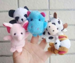 Hot 5X Animal Finger Puppets Baby Toys Plush Toys