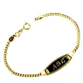 Gold Filled 18k Tag Infants Kids Baby Bracelet Chain Birth Gift New