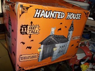 Inflatable Haunted House Over 11 Feet Tall Motion and Sound Activated