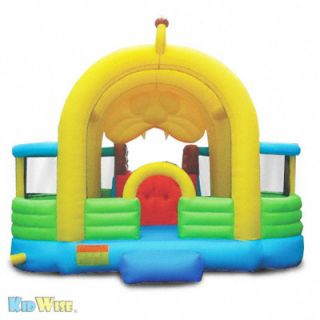 Inflatable Lion Bounce House w Slide and Ball Pit