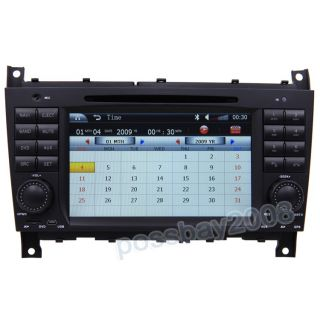 Car GPS Navigation Radio Touch Screen TV DVD Player for 04 07 Benz C