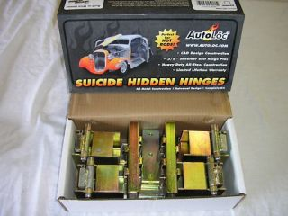Autoloc Suicide Hidden Hinges 2 Door Kit Street Hot Rod